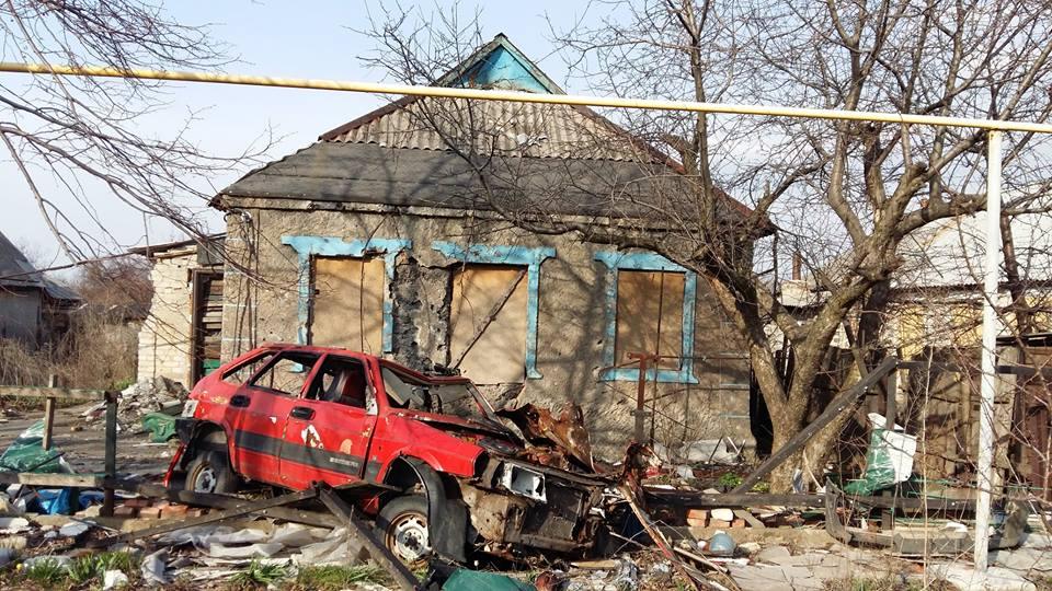 разрушения поселок Опытное Донецкая область