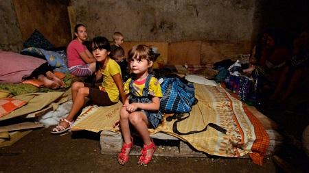 Дети-сироты из донецких интернатов