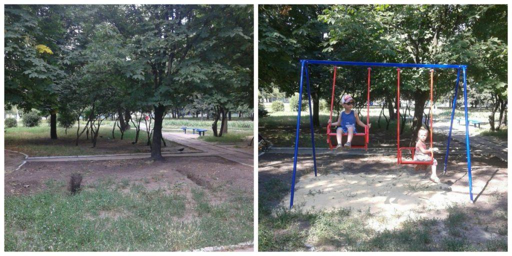Реставрация детской площадки в Селидово